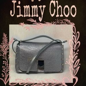 Jimmy Choo Bags - Jimmy Choo Platinum Lockett/M MGL Handbag